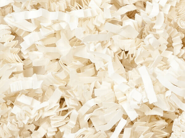 Ivory Crinkle Cut Paper Shredded Paper, 8 oz Bag