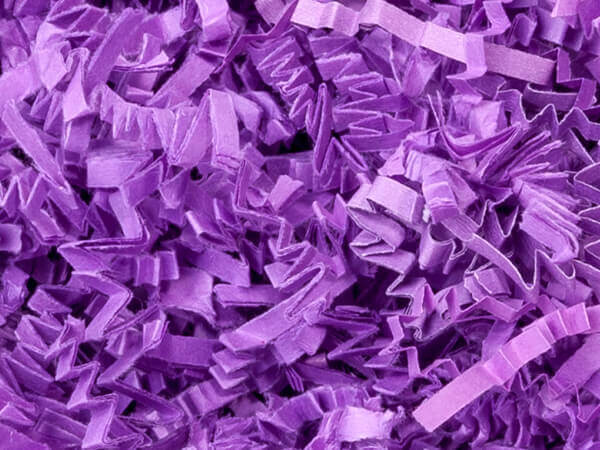 Lavender Crinkle Cut Paper Shredded Paper, 8 oz Bag