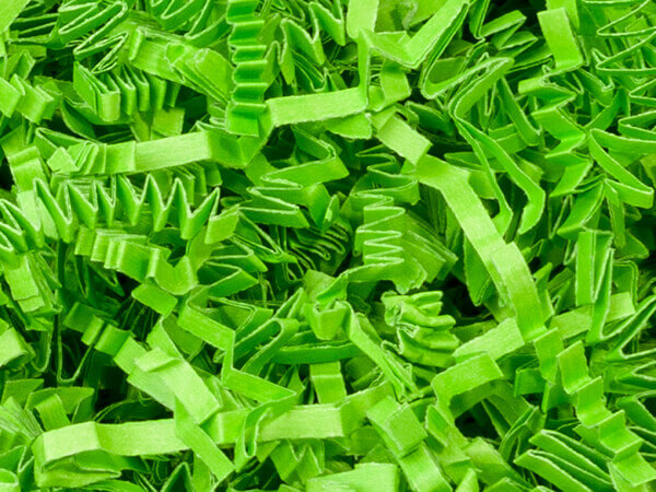 Lime Crinkle Cut Paper Shredded Paper, 8 oz Bag