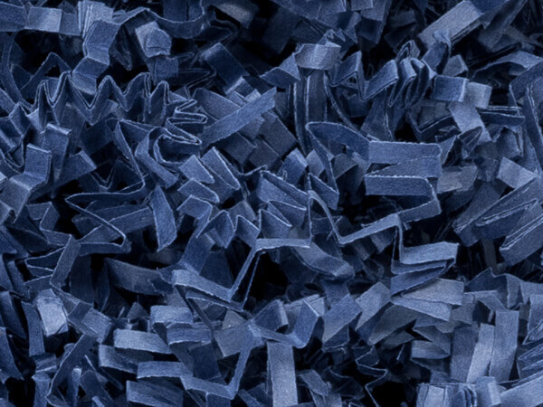 Navy Blue Crinkle Cut Paper Shredded Paper, 8 oz Bag