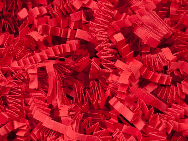 Red Crinkle Cut Paper Shredded Paper, 8 oz Bag