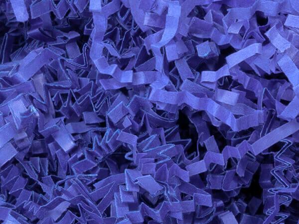 Royal Blue Crinkle Cut Paper Shredded Paper, 8 oz Bag