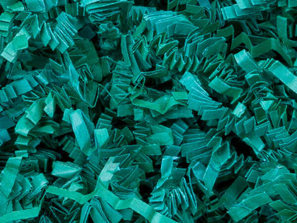 Teal Crinkle Cut Shredded Paper, 8 oz Bag