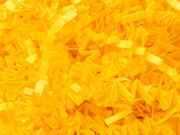 Yellow Crinkle Cut Paper Shredded Paper, 8 oz Bag