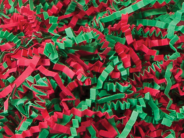 Christmas Mix Crinkle Cut Shredded Paper, 10 lb Box
