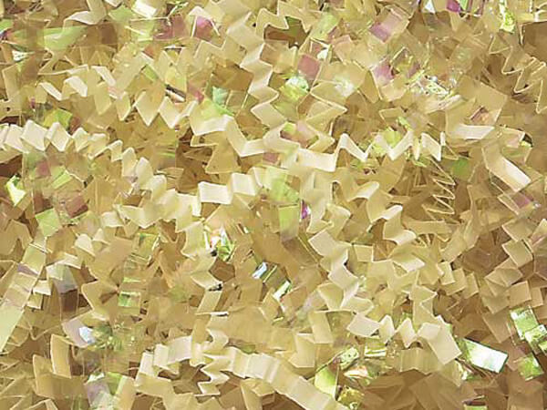 French Vanilla & Irid. Crinkle Cut Shredded Paper, 10 lb Box