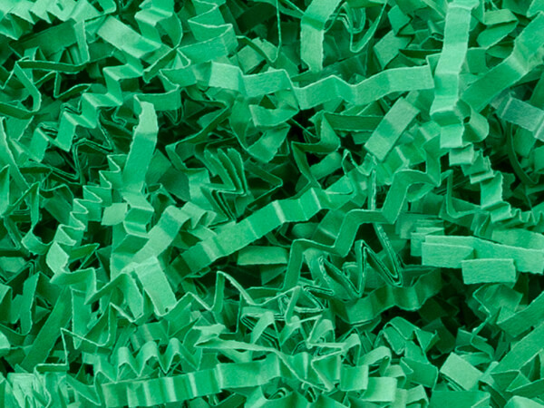 Green Crinkle Cut Paper Shredded Paper, 10 lb Box