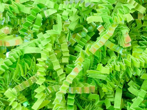 *Laminate Apple Green Crinkle Cut Shredded Paper, 10 lb Box