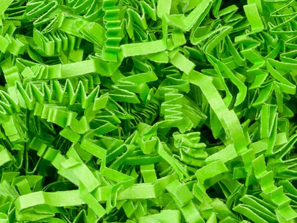 Lime Green Crinkle Cut™ Paper Shred 10 lb  ~ Spring-fill® Shred