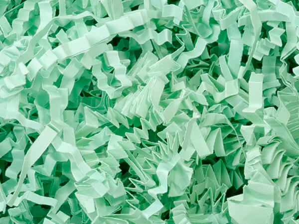 Mint Green Crinkle Cut Shredded Paper, 10 lb Box