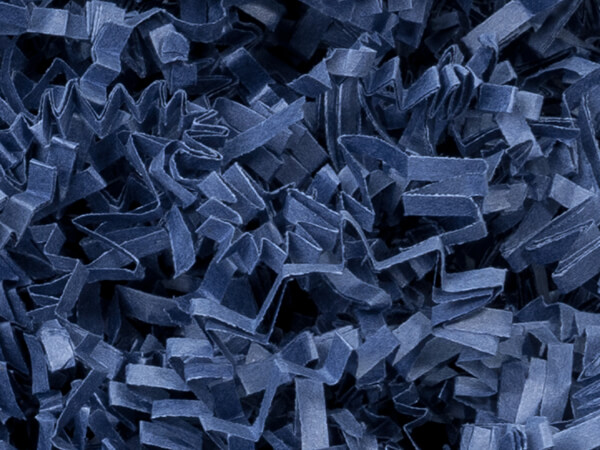 Navy Blue Crinkle Cut Paper Shredded Paper, 10 lb Box