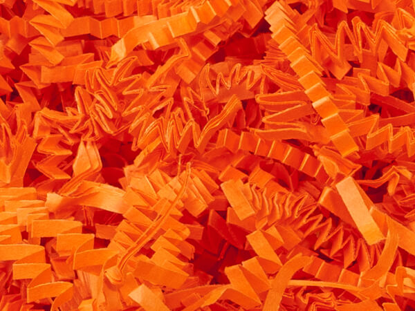Orange Crinkle Cut Paper Shredded Paper, 10 lb Box