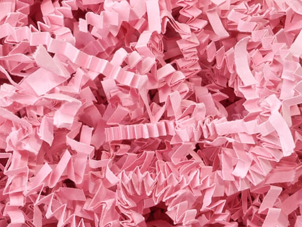 Pink Crinkle Cut Paper Shredded Paper, 10 lb Box