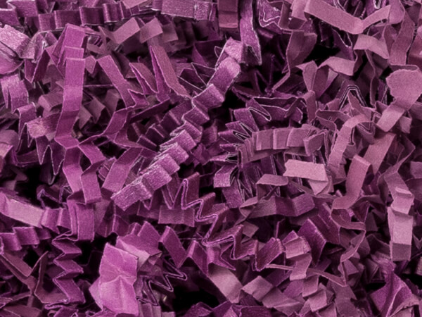 Plum Crinkle Cut™ Paper Shred 10 lb  ~ Spring-fill® Shred
