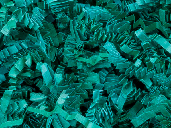 Teal Crinkle Cut Shredded Paper, 10 lb Box