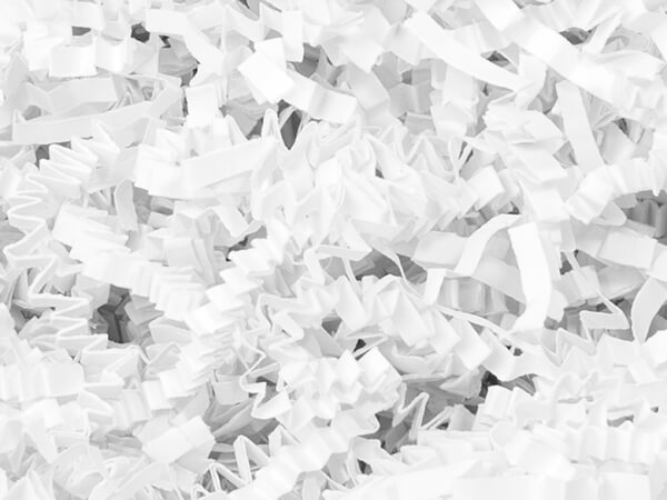 White Crinkle Cut Paper Shredded Paper, 10 lb Box