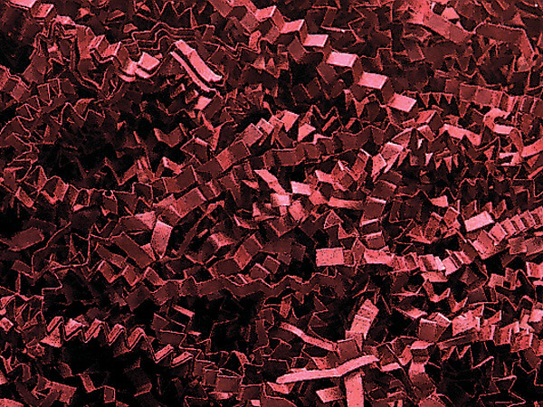 Burgundy Crinkle Cut Shredded Paper, 40 lb Box