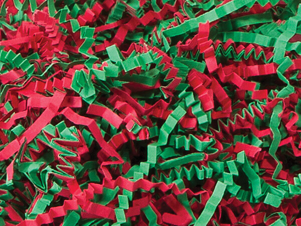Christmas Mix Crinkle Cut Shredded Paper, 40 lb Box