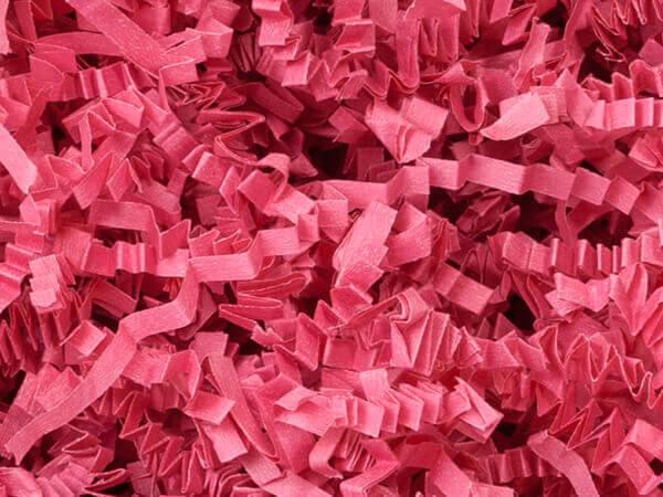 Fuchsia Crinkle Cut Shredded Paper, 40 lb Box