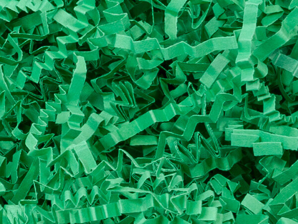Green Crinkle Cut Shredded Paper, 40 lb Box