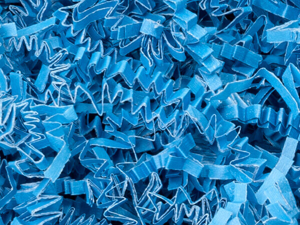 Sky Blue Crinkle Cut Shredded Paper, 40 lb Box
