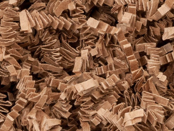 Natural Tan Kraft Crinkle Cut Shredded Paper, 40 lb Box