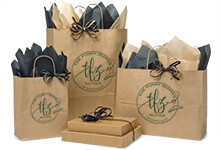 Nashville Wraps Customizable Brown Kraft Shopping Bags