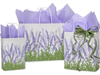 Lavender Fields Paper Shopping Bags