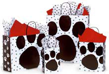 Pooch's Paws Paper Shopping Bags