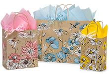 Wildflower Meadow Paper Shopping Bags