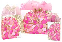 Gilded Blooms Paper Shopping Bags