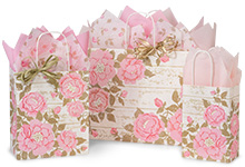 Cottage Rose Garden Paper Shopping Bags