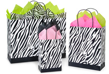 Zebra Paper Shopping Bags