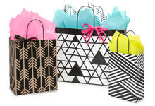 Kinetic Ink Paper Shopping Bags