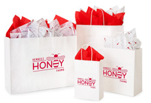 Nashville Wraps Customizable White Kraft Shopping Bags