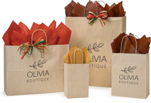 Nashville Wraps Customizable Oatmeal Paper Shopping Bags