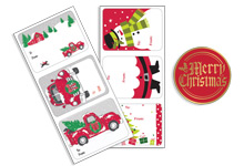 Nashville Wraps Christmas Stickers and Labels
