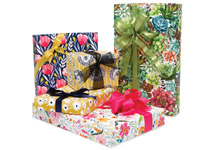 Floral And Kraft Gift Wrap Paper