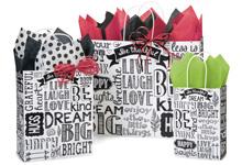Nashville Wraps Chalkboard Sentiments Gift Bags