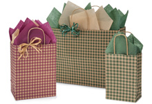 Nashville Wraps Gingham Check Gift Bags