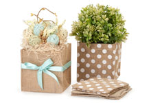 Burlap Basket Containers