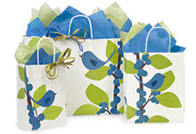 Nashville Wraps Blue Bird Berries Gift Bags