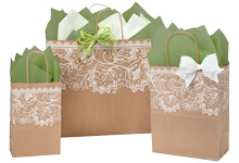 Nashville Wraps Lace Borders Kraft Bags