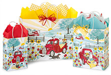 Nashville Wraps Red Farm Truck Gift Bags