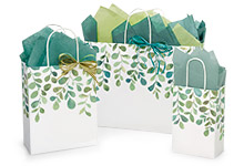 Nashville Wraps Watercolor Greenery Paper Bags