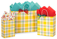 Nashville Wraps Sunshine Plaid Gift Bags