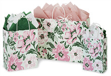 Mint & Pink Floral Gift Bags