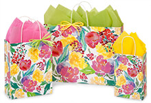 Nashville Wraps Watercolor Garden Blooms Paper Bags
