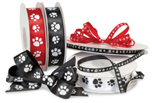 Nashville Wraps Paw Print Ribbon