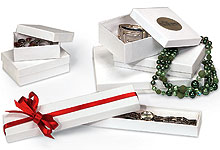 Nashville Wraps White Swirl Jewelry Gift Boxes